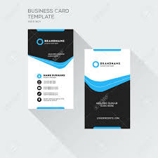 Vertical Business Card Print Template Personal Visiting Card
