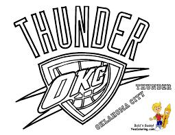 Thunder Basketball Logo Oklahoma City Thunder
