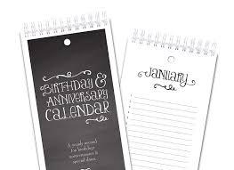 Birthday Anniversary Calendar Amazon Com Chalkboard Style Perpetual Birthday Anniversary