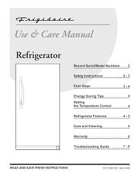 Frigidaire Freezer Warning Lights Frigidaire Refrigerator 216961200 User Manual Manualzz Com