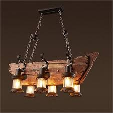 joypeach 6 heads vintage wooden chandeliers retro industrial style chandeliers for dining rooms chandeliers for living room 110v