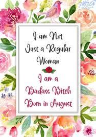 Card Bday I Am A Badass Bitch Born In August Gag Gifts For Birthday