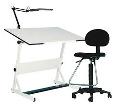 the contemporary drafting set provides a complete work center at a great it includes a drafting desk a drafting chair and an adjule lamp