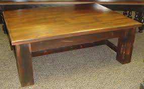 rustic pine coffee table w square legs