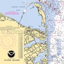 New Jersey Nautical Chart Decor