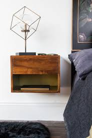 mango wood wall hung bedside shelf