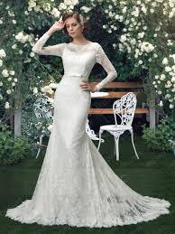 glamorous long sleeves button trumpet mermaid wedding dress