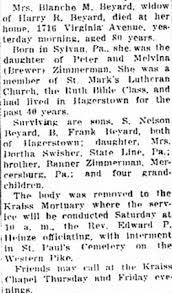 Blanche M Zimmerman Beyard (1870-1950) - Find A Grave Memorial