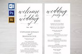 Templates For Wedding Programs Wedding Program Template