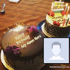 fireworks birthday cake image with