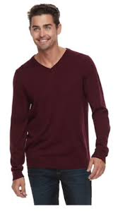 Apt 9 Mens Merino Wool Blend V Neck Sweater Burgundy Slim Fit Size M Nwt Ebay