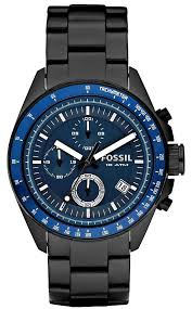 Fossil Mens Blue And Black Decker Watch Ch2692 Fossil Watch