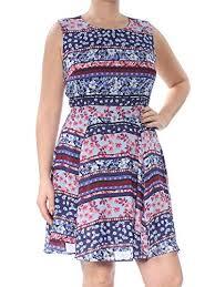Maison Jules Size Chart Maison Jules Womens Floral Print Sleeveless Casual Dress
