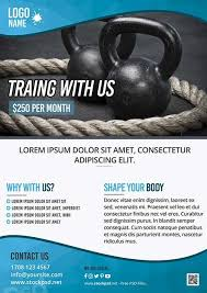 Training Flyer Templates Free Fitness Training Gym Free Flyer Template Free Flyer