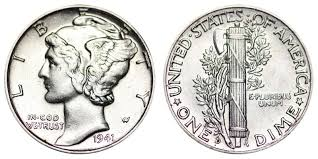 1941 D Mercury Dimes Winged Liberty Silver Dime Value And