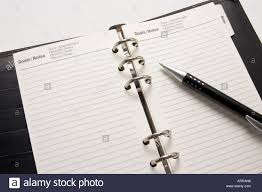 Business Agenda Empty Business Agenda Ready For Writing Plan Stock Photo
