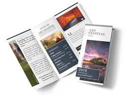 2 Folded Brochure Template Art Festival Tri Fold Brochure Template Mycreativeshop