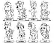 Small Picture Paw Patrol Everest Coloring Pages Printable