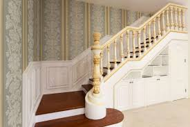 stairs with luxury wooden baers