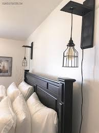 bedside lighting. fine bedside this simple design allows you to add hanging light cages as an alternative  bedside lamps intended bedside lighting s
