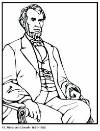 coloring page pages abraham lincoln president