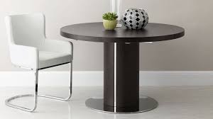 large round wenge extending dining table