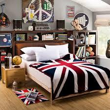 british flag furniture. new arrival union jack british uk flag coral fleece home travel blanket on bed dark brown furniture u