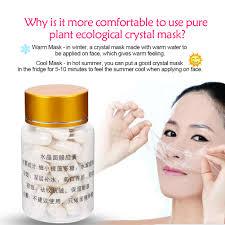 50pcs set diy crystal face mask collagen capsules mask diy plate mold b