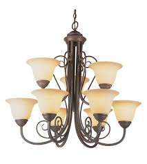 trans globe lighting 6529 abz double scrolled 9 light 30 inch antique bronze chandelier ceiling