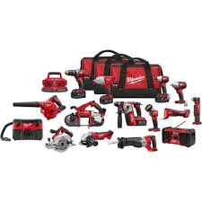 Milwaukee M18 Li-Ion Cordless Combo <b>Kit</b> — <b>15-Pc</b>., Model# 2695 ...