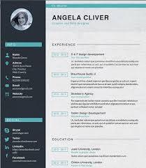 Design Cv Layout Nice Designer Resume Templates Best Sample Resume