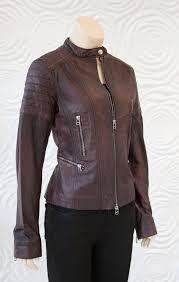 rino pelle brown leather moto jacket