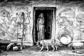 photo essay the writing on the wall livemint a sohrai painting by hazaribagh s oraon tribe the forms reflect day to day