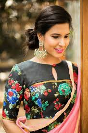 Floral Print Blouse Designs For Sarees 20 Latest Floral Printed Saree Blouse Designs To Try This