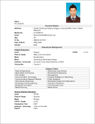 It Resume Format Download In Word Resume Template Word Download Malaysia High School Resume Template