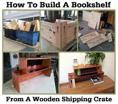 packing crate furniture. how to build a bookshelf from wooden shipping crate packing furniture