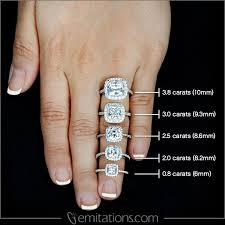 Cushion Cut Carat Size Chart Pin On Engagement Rings