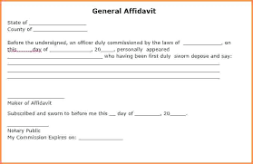 Free Affidavit Form Download Gorgeous Notarized General Affidavit Form Template Word Sample Chookiesco