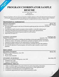 Sample Youth Program Coordinator Resume