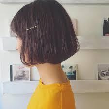 パーマなしでも可愛いショートボブのヘアスタイル23選前髪なし前髪