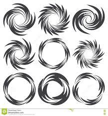 круглые татуировки в форме свирли иллюстрация вектора иллюстрации