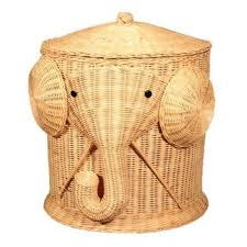 Elephant Wicker Laundry Hamper Woven Basket Clothes Bin with Lid Cotton  Large Storage Baskets Box for Toys Bath Baby Kid Child-in Storage Baskets  from Home ...