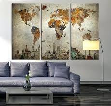 wall decor maps full size of living large world map wall art with regard to large