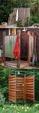 32 inspiring diy outdoor showers lots of ideas on how to build enclosures with simple materials