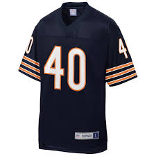 Gale Pro Bears Jersey Sayers Chicago Navy Line Team Player Retired Men's Nfl