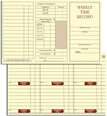 Weekly Time Record Amazon Com Egp Weekly Time Record 250 Time Cards Blank