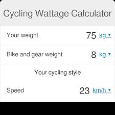 Cycling Wattage Calculator Omni