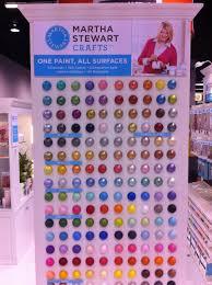 A Display Of All The Martha Stewart Craft Paints Martha