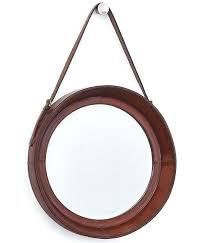 leather mirror upholstered saddle leather mirror leather trim round mirror round mirror leather strap nz