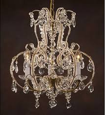 bulb shaped antique style 3 light with murano glass chandelier